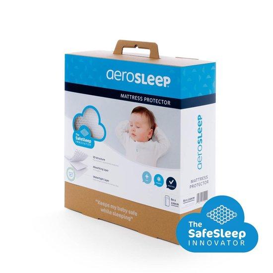 AeroSleep® SafeSleep 3D matrasbeschermer- bed - 120 x 60 cm