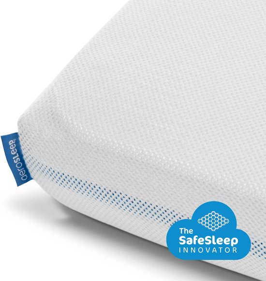 AeroSleep® SafeSleep Hoeslaken - bed - 120 x 60 cm - wit