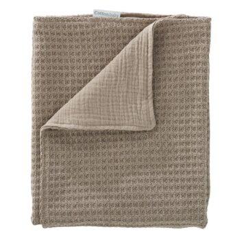 Cottonbaby Cottonsoft ledikantdeken - wafel gebreid - 120x150 cm - taupe