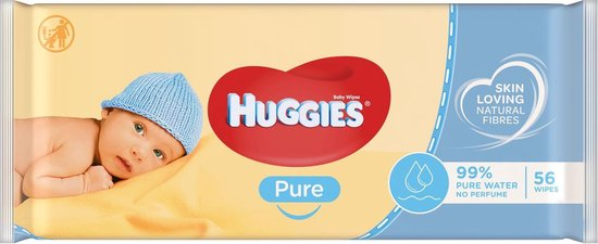 Huggies Pure baby wipes - 99% water