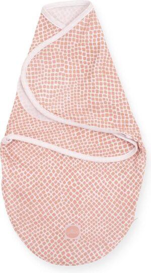 Jollein wrapper inbakerslaapzak - 0-3 maanden - snake pale pink
