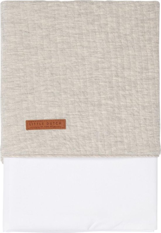 Little Dutch ledikant laken - 110x140cm - grijs