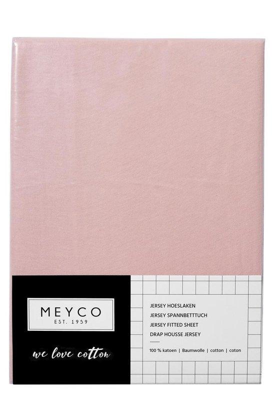 Meyco jersey hoeslaken - 60x120 cm - oudroze