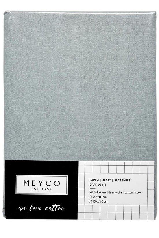 Meyco ledikant laken - 100x150cm - stone green