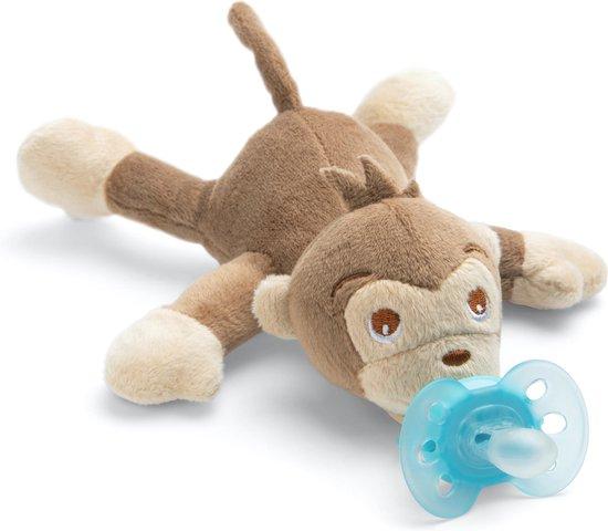 Philips Avent speen Soothie 0-6 maanden - knuffelspeen met aapje
