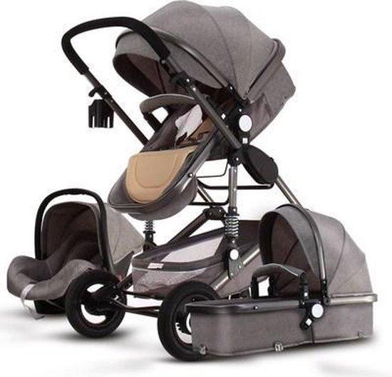 Baby Pro Max® luxe 3 in 1 kinderwagen - moon grijs