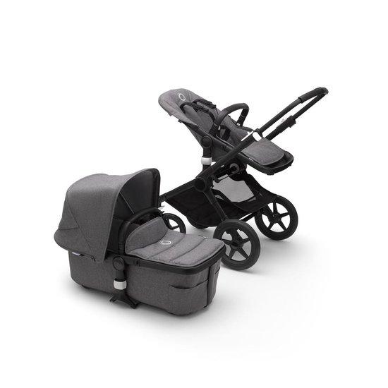 Bugaboo Fox kinderwagen met stoel en wieg - zwart:grijs