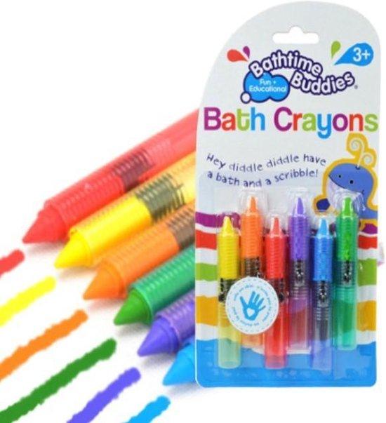 Kleurpotloden voor in bad - 6 stuks
