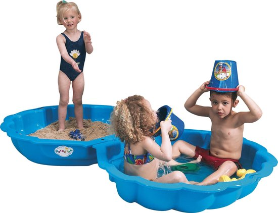 Zandbak of zwembad schelp 2-delig